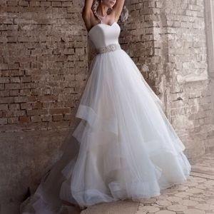 Justin Alexander strapless gown